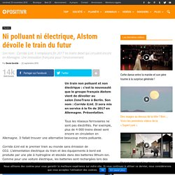 Ni polluant ni électrique, Alstom dévoile le train du futur