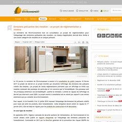Emissions polluantes des meubles: un projet de réglementation a minima - 19/01/17