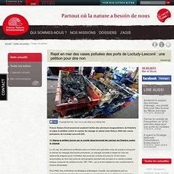 Rejet en mer des vases polluées des ports de Loctudy-Lesconil : une pétition pour dire non