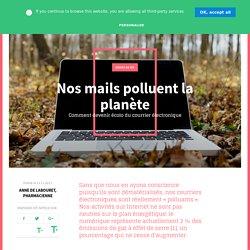 Nos mails polluent la planète - Pensées sauvages