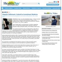 'Organic Pollutants' Linked to Gestational Diabetes