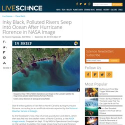 Inky Black, Polluted Rivers Seep into Ocean After Hurricane Florence in NASA Image