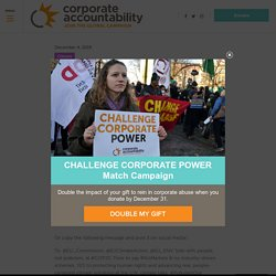 Tell the EU: Side with people, not Big Polluters! - Corporate Accountability