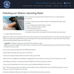 Fact to Know About Polluting Our Waters Alarming Stats