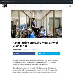 Air pollution actually messes with yourgenes