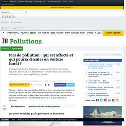Pics de pollutionà Paris et à Lyon