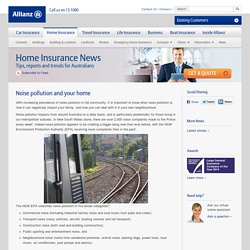 Noise pollution and your home - Allianz Australia