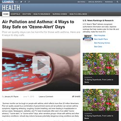 Air Pollution and Asthma: 4 Ways to Stay Safe on 'Ozone-Alert' Days