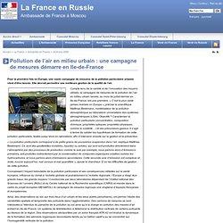 Pollution de l'air en milieu urbain : une campagne de mesures démarre en Ile-de-France