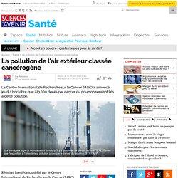 La pollution de l'air extérieur classée cancérogène