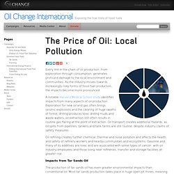 The Price of Oil: Local Pollution - Oil Change International