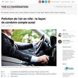 Pollution de l'air en ville: lafaçon deconduire compteaussi