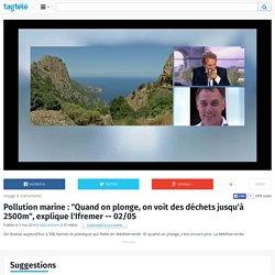 """Pollution marine : """"Quand on plonge, on voit des déchets jusqu'à 2500m"""", explique l'Ifremer"""