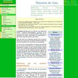 Pollution de l'eau