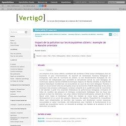 VERTIGO - JUILLET 2011 - Impact de la pollution sur les écosystèmes côtiers : exemple de la Manche orientale