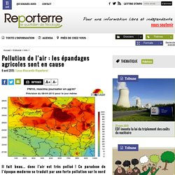 Pollution de l'air : les épandages agricoles sont en cause