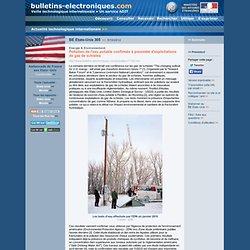 BE Etats-Unis 305 >> 5/10/2012 Pollution de l'eau potable confirmée à proximité d'exploitations de gaz de schistes