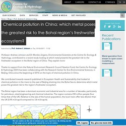 Chemical pollution in China: which metal poses the greatest risk to the Bohai region's freshwater ecosystem?
