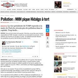 Pollution : NKM pique Hidalgo à tort