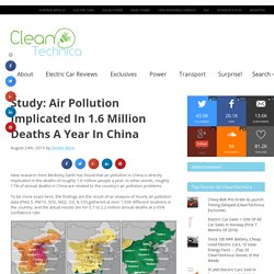 Study: Air Pollution Implicated In 1.6 Million Deaths A Year In China