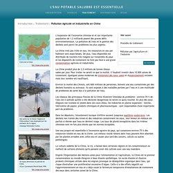 L'eau potable salubre est vitale - Pollution Agricole et Industrielle en Chine