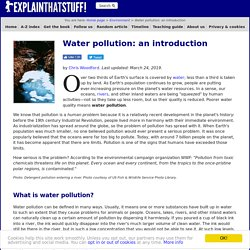 Water pollution: An introduction to causes, effects, solutions