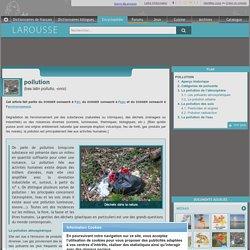 pollution bas latin pollutio -onis