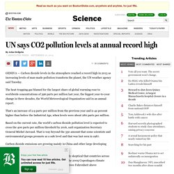 UN says CO2 pollution levels at annual record high - Science