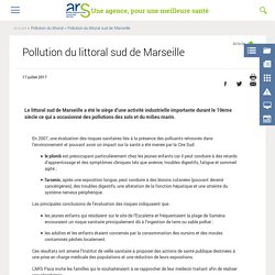 Pollution du littoral sud de Marseille
