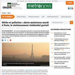 Météo et pollution : l'alerte maintenue mardi à Paris