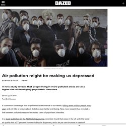 Air pollution might be making us depressed