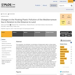 PLOS 24/08/16 Changes in the Floating Plastic Pollution of the Mediterranean Sea in Relation to the Distance to Land