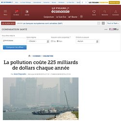 La pollution coûte 225 milliards de dollars chaque année