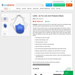Buy Luna Air For Life Anti Pollution Mask Online at Best Price : Retail Pharma