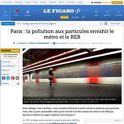 Paris: la pollution aux particules envahit le métro et le RER