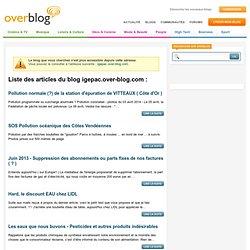 """Une synthèse de la Loi """"Grenelle 2"""" sur l'eau - septembre 2010 - igepac _ Le blog de Pierre PETIT ____________ pour les futures générations"""