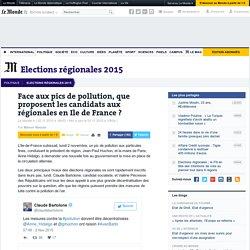 Face aux pics de pollution, que proposent les candidats aux régionales en Ile de France?