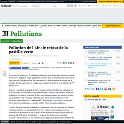 Pollution de l'air : le retour de la pastille verte