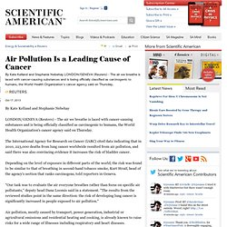 Air Pollution Is a Leading Cause of Cancer