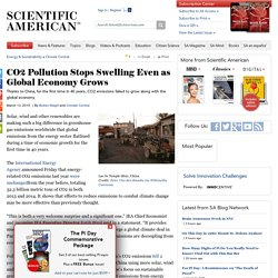 CO2 Pollution Stops Swelling Even as Global Economy Grows