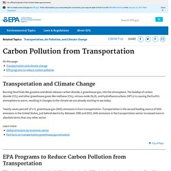 Transportation, Air Pollution, and Climate Change