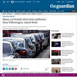 Many car brands emit more pollution than Volkswagen, report finds