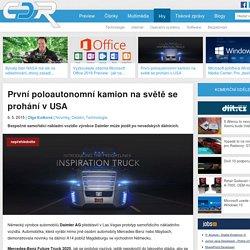 První poloautonomní kamion na světě se prohání v USA