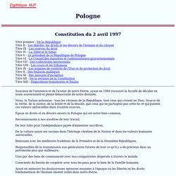 Pologne, Constitution polonaise, 1997, MJP