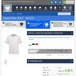 Polos personnalisable : Tipped Polo ,B & C