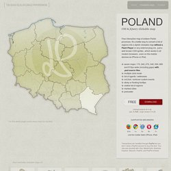Polska, CSS & jQuery clickable map by Winston Wolf