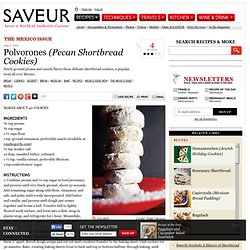 Polvorones (Pecan Shortbread Cookies) Recipe