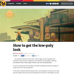 How to get the low-poly look