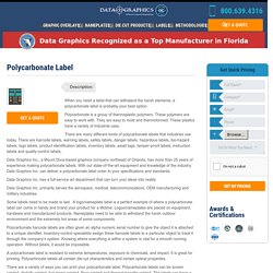 The Most Exacting Manufacturers of Polycarbonate Labels