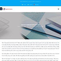 Tấm Polycarbonate NICELIGHT® Đặc - Nhựa Nam Việt